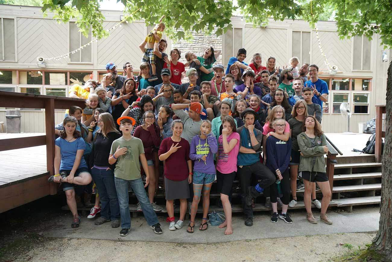 Campers from Camp Tzadi 2017