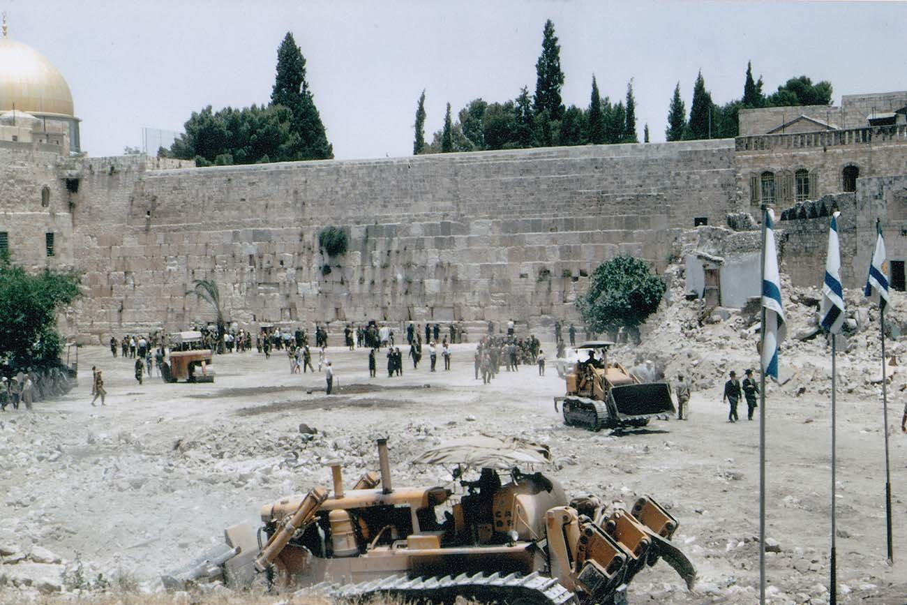 The Western Wall, Jerusalem, a few days after Israel captured it in 1967. (Image: יהודה גרינברג Pikiwiki Israel)