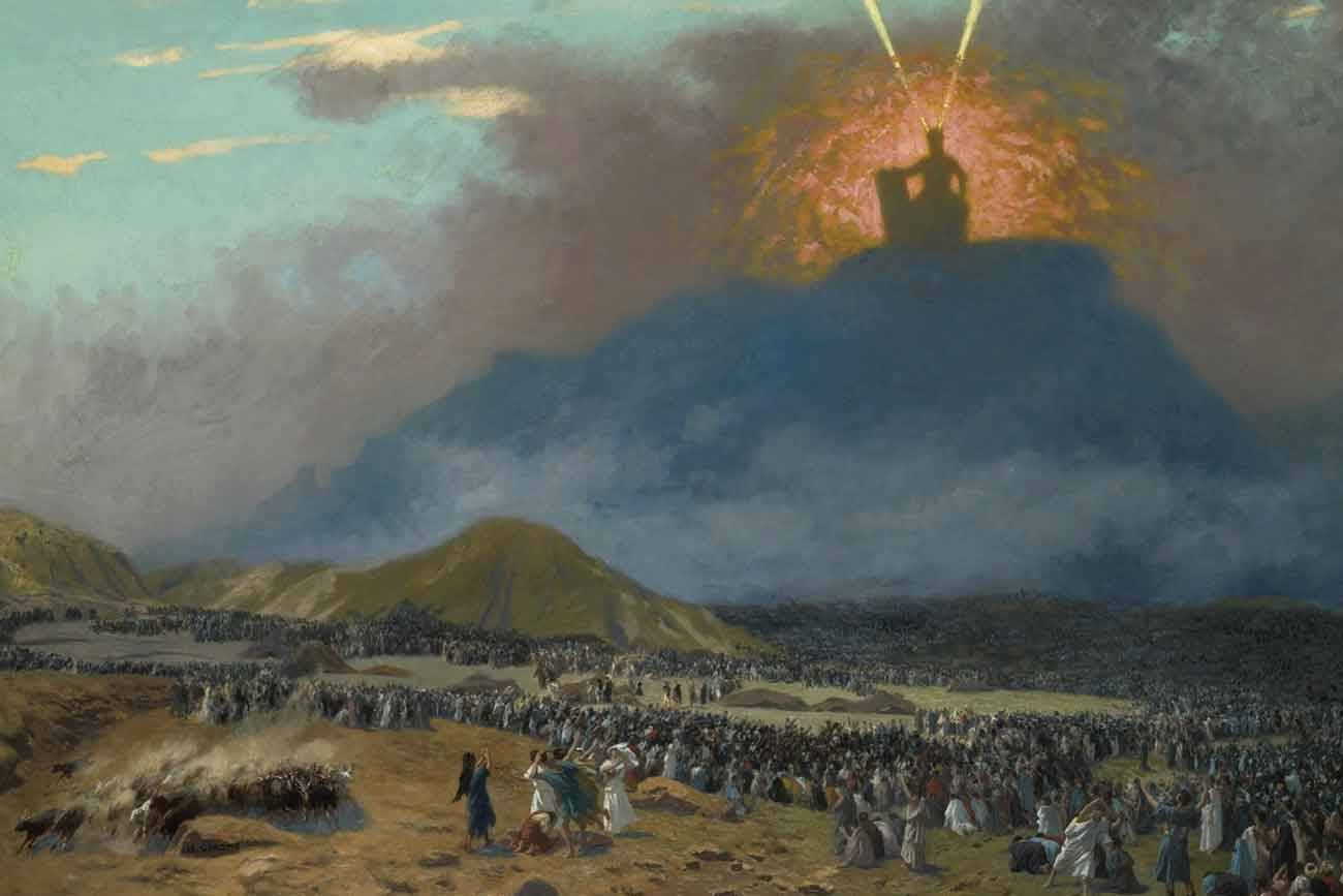 Image: Moses on Mount Sinai (painting circa 1895–1900 by Jean-Léon Gérôme)