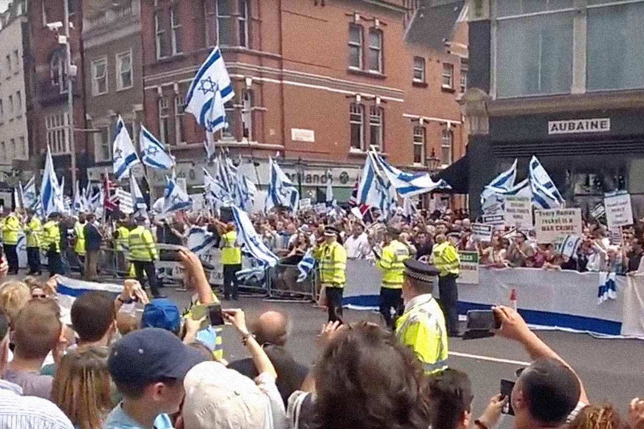 Pro Israel rally in London